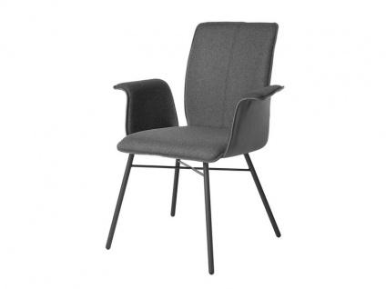 Bert Plantagie Stuhl Tara Four 832 mit Uni-Polsterung Polsterstuhl für Esszimmer Esszimmerstuhl mit Armlehnen Gestell in verschiedenen Ausführungen und Bezug in Leder oder Stoff wählbar