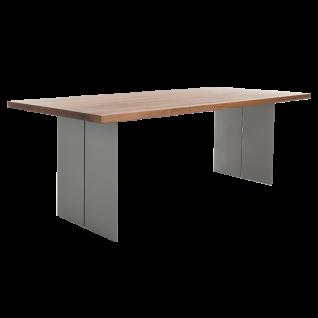 Bert Plantagie Tisch Santiago mit Massivholzplatte Esstisch ohne Funktion für Esszimmer Tischplattenausführung Gestellausführung und Größe wählbar