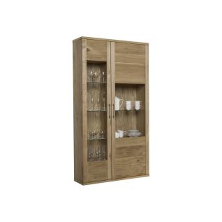 Dkk Klose Kollektion Kastenmöbel K31-A Vitrine 2-tlg. mit zwei Glastüren in einer wählbaren Ausführung mit einer furnierten Rückwand mit wählbarem Türanschlag für Ihren Wohn- und Essbereich
