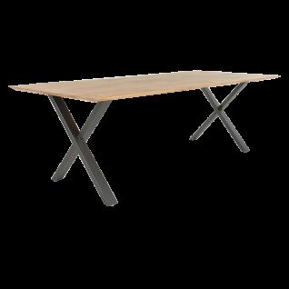 Bert Plantagie Esstisch Xam mit Massivholzplatte und X-Gestell Tischplatten sowie Gestellausführung wählbar