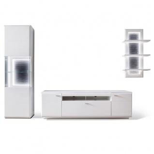 MCA furniture Wohnwand 2 Amora Art.Nr. AMO83W02 Front weiß matt tiefzieh Nachbildung Korpus weiß matt Melamin Nachbildung Beleuchtung optional