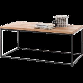 MCA furniture Couchtisch Sakura Art.Nr. 58891AS9 rechteckige Tischplatte Asteiche Massivholz geölt Gestell Metallrahmen Schwarz