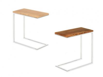 Willi Schillig Beistelltisch Tischprogramm 40024 Holzplatte in 2 Ausführungen und Tischuntergestell wählbar