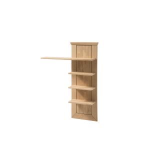 Quadrato Malta Paneelregal 40521833 für Ihr Wohnzimmer oder Esszimmer Wandboard mit vier Böden in Wildeiche Massivholz bianco geölt