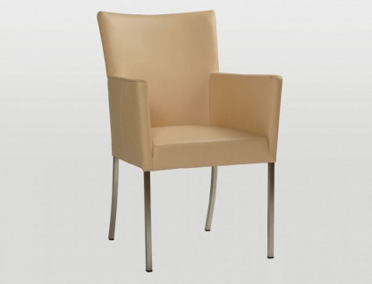 Bert Plantagie Audrey Polsterstuhl mit Armlehnen Stuhl für Esszimmer Gestellausführung und Bezug in Leder oder Stoff wählbar