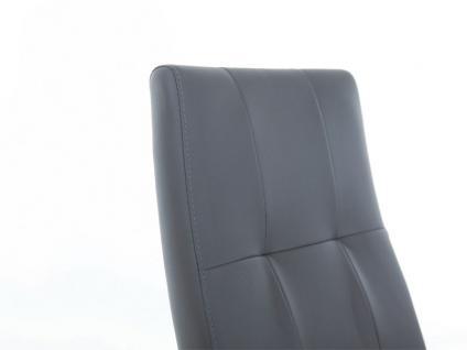 Standard Furniture Stuhl Henry 2 Schwingstuhl mit Edelstahl-Rundrohr-Gestell für Wohnzimmer oder Esszimmer Bezug in Kunstleder wählbar - Vorschau 5