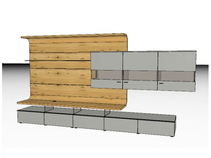 Gwinner Felino Wandkombination Wohnwand FE1 Front Korpus Ausführung wählbar