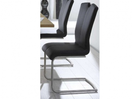 MWA Aktuell Stuhl Crazy MAXI in Kunstleder Stoff oder Echtleder Polsterstuhl in größeren Maßen Freischwinger für Esszimmer oder Küche Bezug Gestell und Sitzschale wählbar