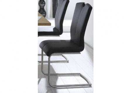 MWA Aktuell Stuhl Crazy MAXI in wählbarem Bezug Polsterstuhl in größeren Maßen Freischwinger für Esszimmer oder Küche Bezug Gestell und Sitzschale wählbar