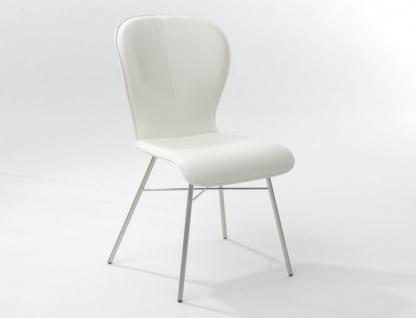 Bert Plantagie Blake Four mit Uni-Polsterung Stuhl 612 für Esszimmer Esszimmerstuhl Gestellausführung und Bezug in Leder oder Stoff wählbar