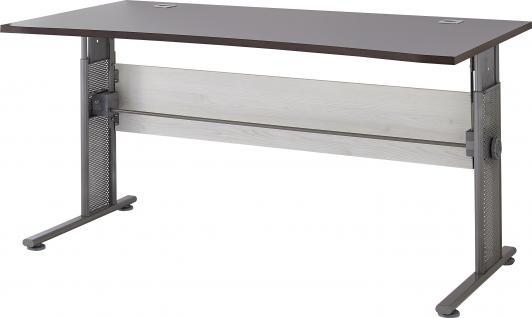 Germania Schreibtisch PROFI in 3 verschiedenen Farbvarianten, höhenverstellbar, mit Kabeldurchführung, für Homeoffice oder Büro - Vorschau 3
