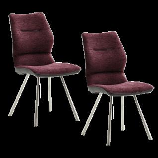 2er Set MCA furniture Stuhl Orlando Bezugsfarbe wählbar ideal für Ihr Esszimmer oder Ihre Küche
