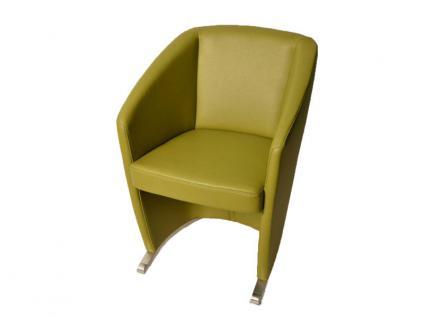 K+W Silaxx Venezia Sessel 6069 1B KW Möbel für Esszimmer Dinner Stuhl mit Kufe Bezug und Kontrastfaden wählbar