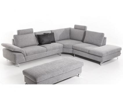 Schillig Willi Ecksofa Joyzze 15650 Sofa 2 mit Sitztiefenverstellung mit oder ohne Seitenteilverstellung + Eckteil + Element mit Hocker für Wohnzimmer in Stoff oder Leder