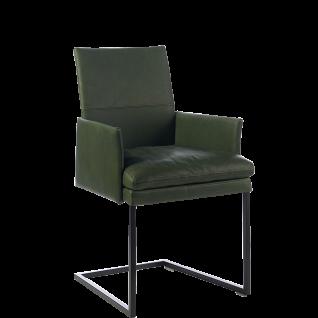 """Wöstmann Sessel SINA 4 """" SLIM"""" Stuhl mit Polstersitz und Polsterrücken einfarbig Freischwinger Bezug und Gestell wählbar"""