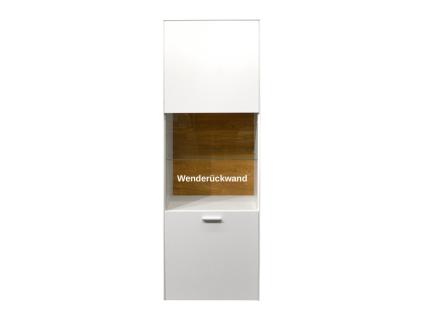 Mäusbacher Arizona Standvitrine 1GL-W für Ihr Wohnzimmer oder Esszimmer mit 3 Türen und zwei Schubkästen Dekor wählbar - Vorschau 2