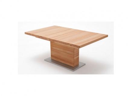 MCA furniture Corato Tisch Auszugstisch mit einer Säule Massivholz geölt durchgehende Lamellen in verschienden Ausführungen und Größen wählbar