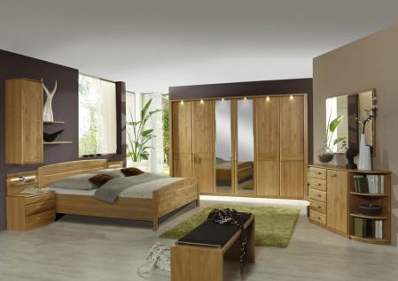 Schlafzimmer Lausanne Wiemann Doppelbett, Drehtürenschrank, 2  Nachtschränke, Beimöbel Sowie Ankleidebank In Erle Oder