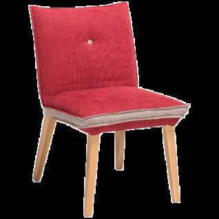 Standard Furniture Polsterstuhl Genua 1 und Genua 2 für Wohnzimmer oder Esszimmer in zwei Rückenvarianten erhältlich Bezug und Gestell wählbar