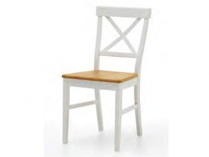 Niehoff Sitzmöbel Malmö Stuhl 4581-47-000 im Landhausstil in Lack weiß ideal für Ihr Esszimmer