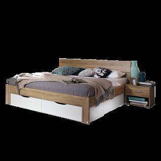 Rauch Packs Flexx Bett inklusive Sockelschubkästen Liegefläche und Farbasuführung wählbar optional mit Nachttisch