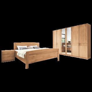 Wiemann Lausanne Schlafzimmer Doppelbett Drehtürenschrank 2 Nachtschränke Farbausführung wählbar