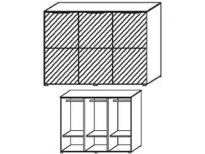 Schrank-Kommode mit 3 Türen, Front Dekor matt