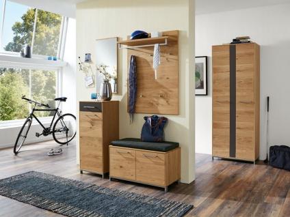 Voss-Möbel Vedo Garderobenkombination 7 6-tlg für Ihren Eingansbereich komplett in Eiche teilmassiv Front Absetzung wählbar