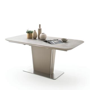 MCA Furniture Koami KO16KE Esstisch mit Klappeinlage Ausführung wählbar bootsförmig für Ihr Wohnzimmer