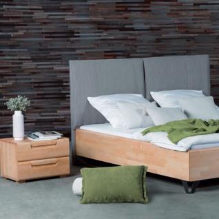 Dico Möbel Massivholzbett Massiva in Kernbuche geölt mit Polsterkopfteil Liegefläche wählbar optional mit Nachttisch - Vorschau 3