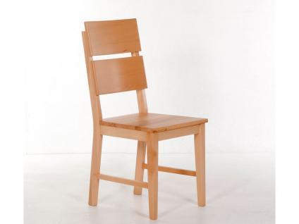 Standard Furniture Stuhl Kai Massivholzstuhl mit geteilter Rückenlehne für Esszimmer oder Küche in Kernbuche