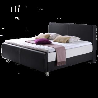 Meise Möbel Boxspringbett Amadeo mit Kunstlederbezug Farbe und Liegefläche wählbar Box mit 7-Zonen-Taschenfederkern Matratze im weißen Klima-Drellbezug Variante wählbar optional mit Topper