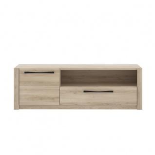 Forte Maximus TV-Board MDXT121 mit Schubkasten offenen Fach und 1 Tür Ausführung in Comano Plum Holznachbildung