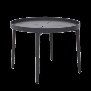 Niehoff Garden Kuta Beistelltisch G993-000-100 mit abnehmbarer Tischplatte und Gestell aus Aluminium Anthrazit Tisch mit Durchmesser ca. 50 cm für Garten oder Terrasse