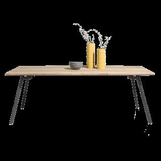 Habufa Turda Esstisch 40780 mit fester Tischplatte ca. 190 x 105 cm Tischplatte Furnier Kikar / Metallgestell graphit