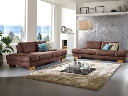 Mezzo Kemona 7051 K+W Polstermöbel Einzelsofa Sofa 2-sitzig, Sofa 2-sitzig groß, Sofa 2, 5-sitzig Standardnaht Ton-in-Ton Polstergarnitur in Bezug Stoff oder Leder wählbar