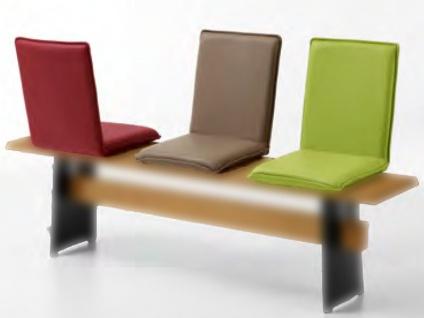 Niehoff Sitzschale SIT 1275-00- gepolstert für Bänke ohne Rückenlehnen geeignet aus dem Programm Colorado Edition Bezug wählbar