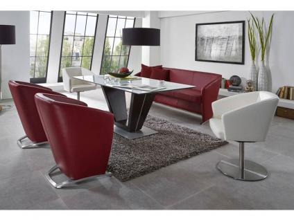 K+W Silaxx Venezia Essgruppe KW Möbel Dinner Esszimmer Bank Sitzbank mit hochwertigem Tisch Esstisch Drehsessel Sessel mit Kufe