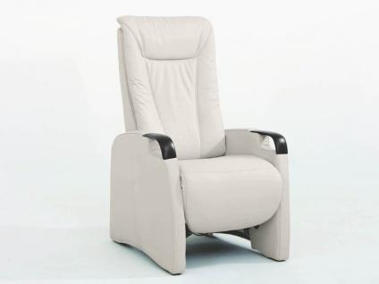 Hukla TV-Sessel Messina Focus Grundversion A, Small, manuelle Verstellung im Bezug Leder 58 ecru