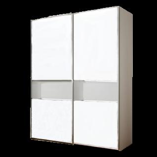 Staud Sinfonie Plus Schwebetürenschrank Ausführung 108G Korpus und Front in Dekor Mittelband in Farbglas oder Spiegel wählbar