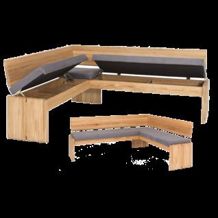 Standard Furniture Sitzbank Stockholm mit Truhe und Stauraum Gestell bzw. Holzart und Bezugsfarbe wählbar