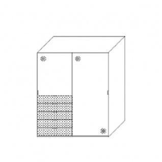 Staud Möbel Media Multi Schwebetürenschrank mit 5 Schubkästen Korpus und Schubkastenfront in Dekor Türen verglast Größe und Farben wählbar - Vorschau 5