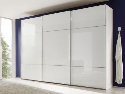 Nolte Marcato Schwebetürenschrank Kleiderschrank Ausführung 3 Front Weißglas G28 - Korpus wählbar