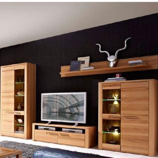 LED Beleuchtung Aus Kernbuche Teilmassiv Anbauwand Mod. Nr. 12 05 FF 80 Für  Wohnzimmer Oder Gästezimmer