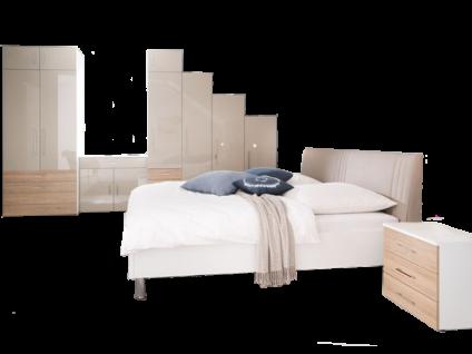 Wellemöbel Kleiderschrankwunder KSW Schlafzimmer bestehend aus Drehtürenschrank - System inkl. Bett mit Polsterkopfteil 180x200 cm Beimöbel wählbar gegen Aufpreis