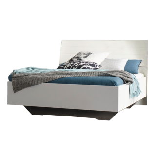 Rauch Orange Z Memphis Bett inklusive Polster-Kopfteil in Kunstleder weiß mit Stauraum Liegefläche ca. 180x200 cm