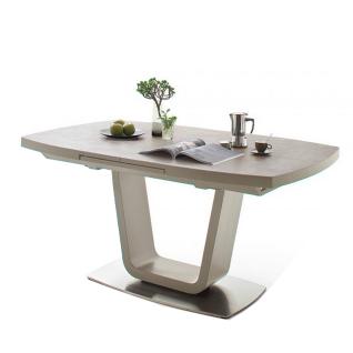 MCA Furniture Leandro LE18KE Esstisch mit Synchronauszug und Liftfunktion Ausführung wählbar bootsförmig für Ihr Wohnzimmer