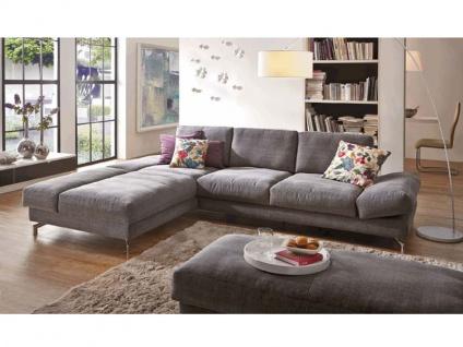 K+W Möbel Mezzo Kemona 7051 Ecksofa Sofagarnitur Sofa 2-Sitzer groß und Sleepchair Polstergarnitur Couch für Wohnzimmer Sofa in Bezug Stoff oder Leder wählbar