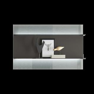 Loddenkemper Minos Hängeregal 7561 in wählbarer Lackfarbe mit zwei Böden und Rückwand oben und unten aus Parsolglas