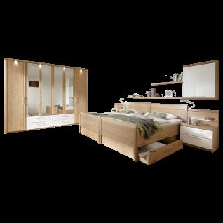 Disselkamp Comfort Twin Schlafzimmer Drehtürenschrank Bett Holzkopfteil Farbausführung Nachtkonsolen und Größe wählbar
